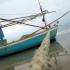 Fishing Boat At Dolphin Beach