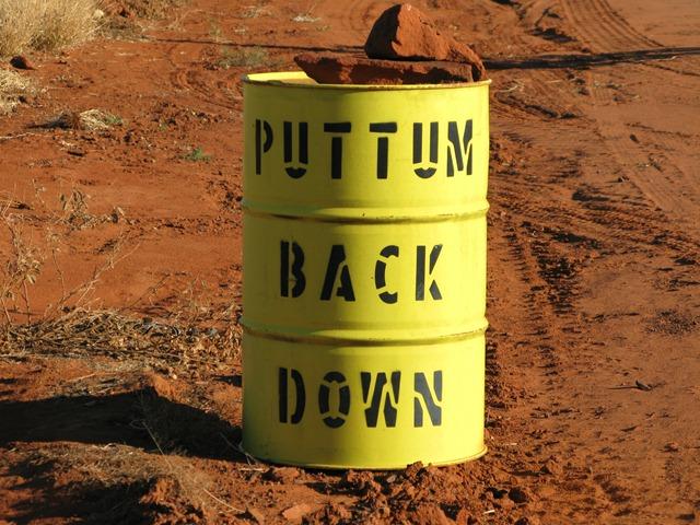 Puttum back down