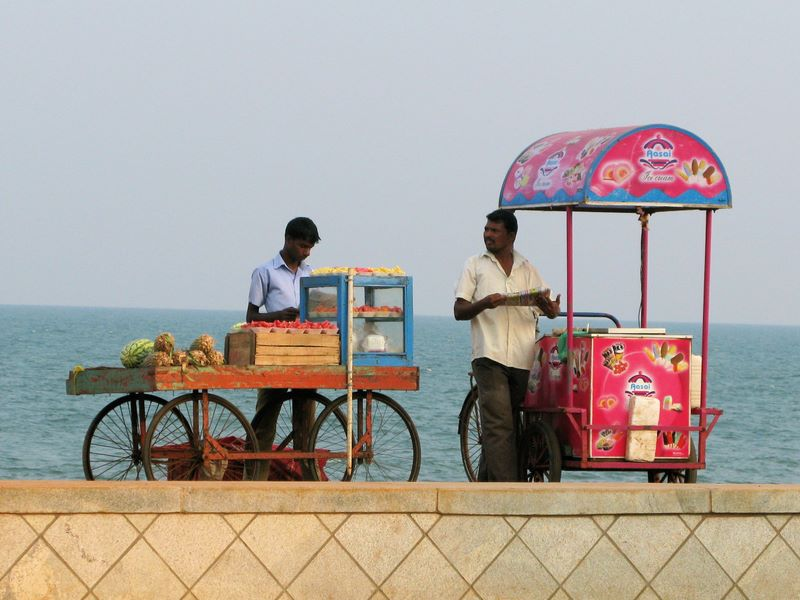 Ice Cream And Fruit Sellers, Pondicherry