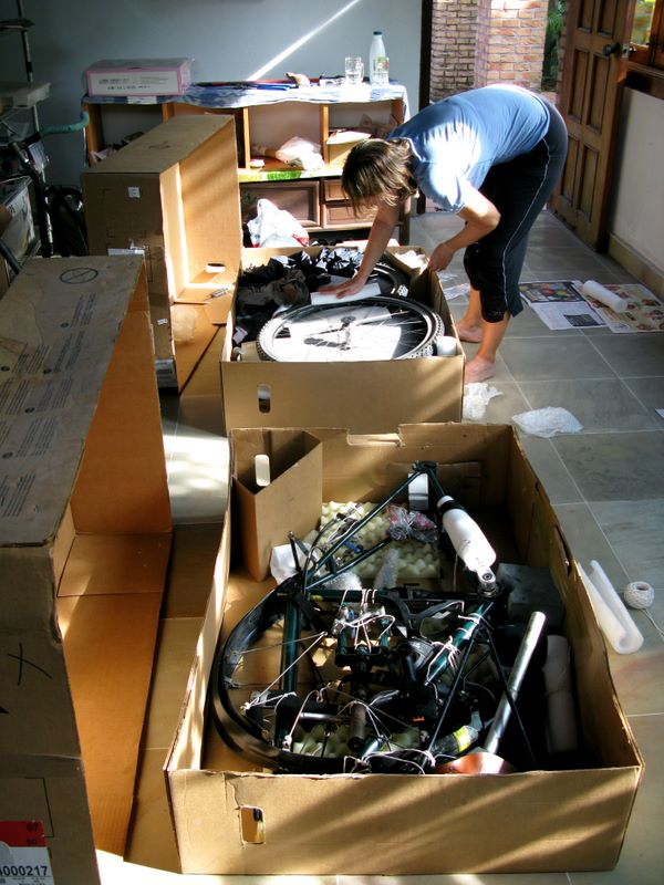 Freddie Packing Bikes Into Minuscule Bike Boxes