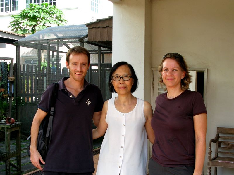 With Mrs Chou, Chuen's Mum, Outside Her Lovely Home