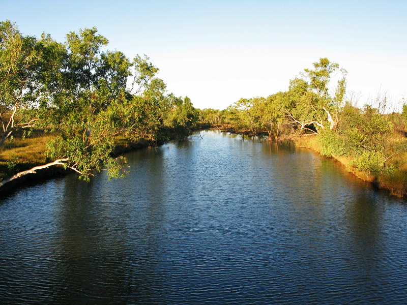 Creek Still Full After The Terrific Wet Season