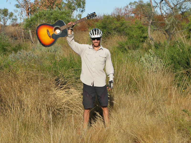 Guy Finds His First Guitar In The Outback