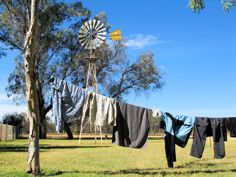 Washing Day At Ti Tree Camp Ground
