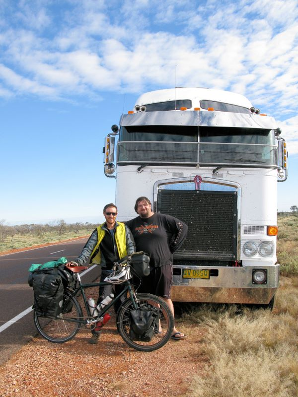 Guy And Road Train Trucker, Craig