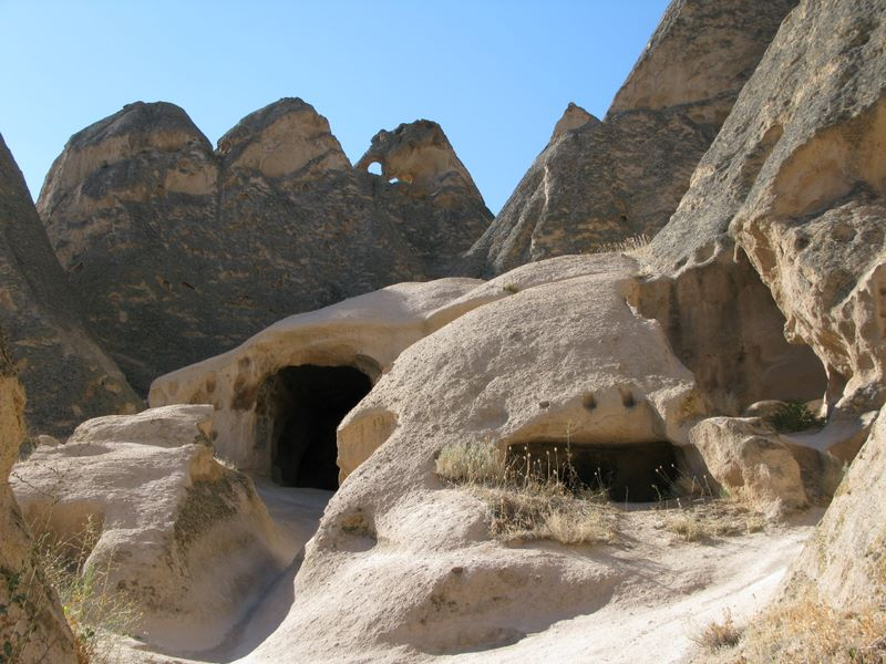 Cave Dwellings Near The Ilhara Valley