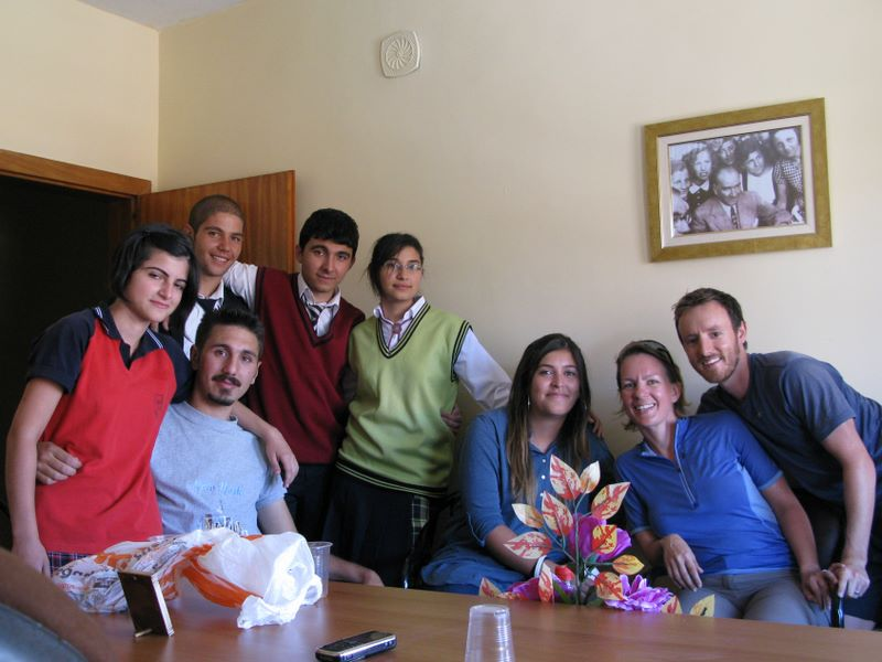 With A Group Of Students In Sarkisla