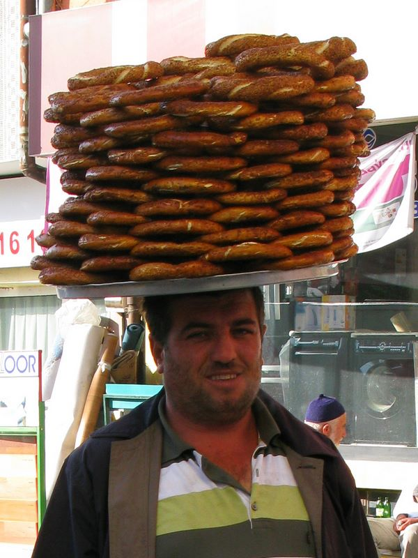 Simit (sesame Bagel) Seller In Zara, Central Anatolia
