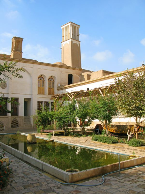 This Restored House Was Converted To A Lovely Hotel, Our Base In Kashan