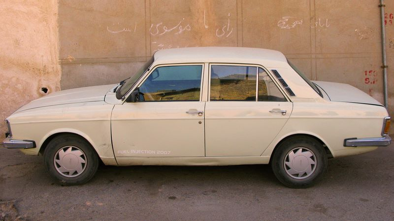 Most Common Car In Iran, The Paykan (with