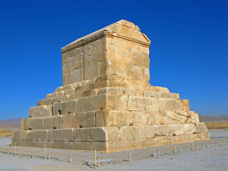 Cyrus The Great's Tomb At Pasargadae