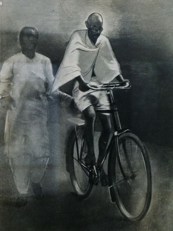 Gandhi Was Also A Fan Of The Two Wheels
