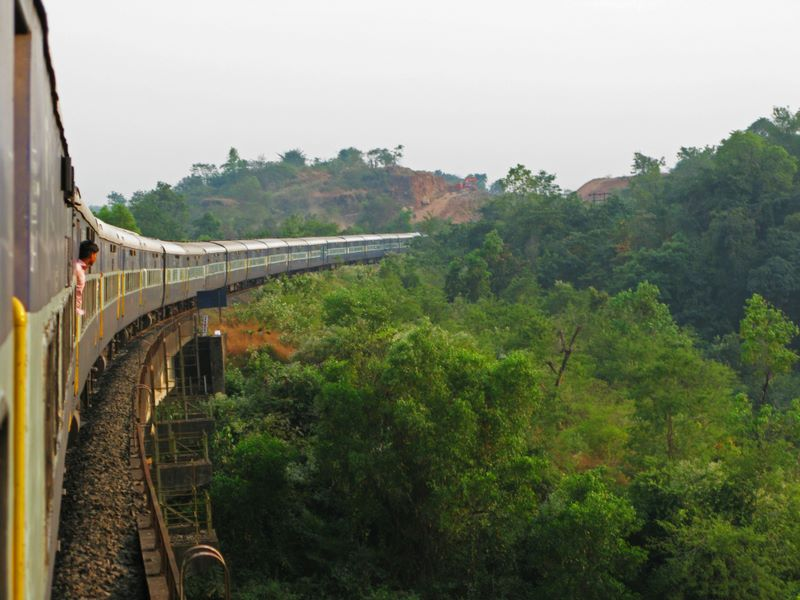 Taking The Train From Mumbai To Our Starting Point In Goa